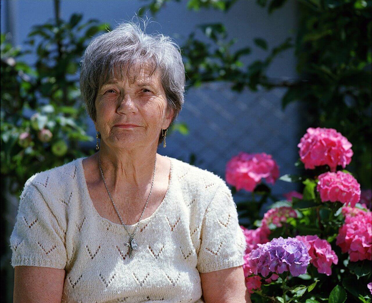 granny, elder, flower